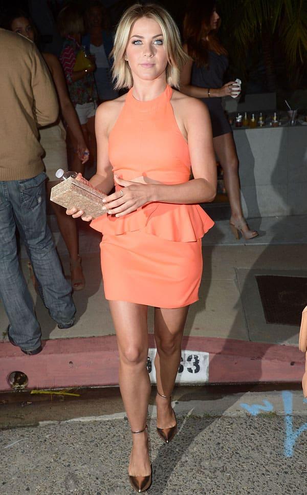 Julianne Hough leaving the Svedka Splash of Summer Party