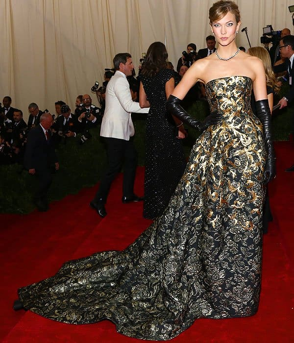 Karlie Kloss attends the 'Charles James: Beyond Fashion' Costume Institute Gala held at the Metropolitan Museum of Art on May 5, 2014 in New York City