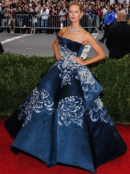 Karolina Kurkova attends the 'Charles James: Beyond Fashion' Costume Institute Gala held at the Metropolitan Museum of Art on May 5, 2014 in New York City