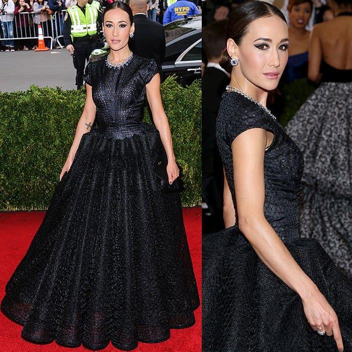 Maggie Q dress 2014 Met Gala