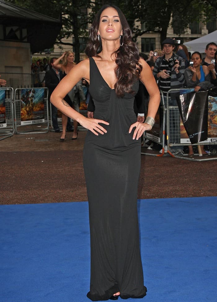 Megan Fox in Kaufmanfranco at the UK premiere of 'Transformers: Revenge of the Fallen' held at the Odeon Leicester Square in London, England, on June 15, 2009