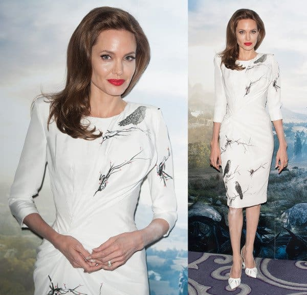 Angelina Jolie in Atelier Versace and Christian Louboutin