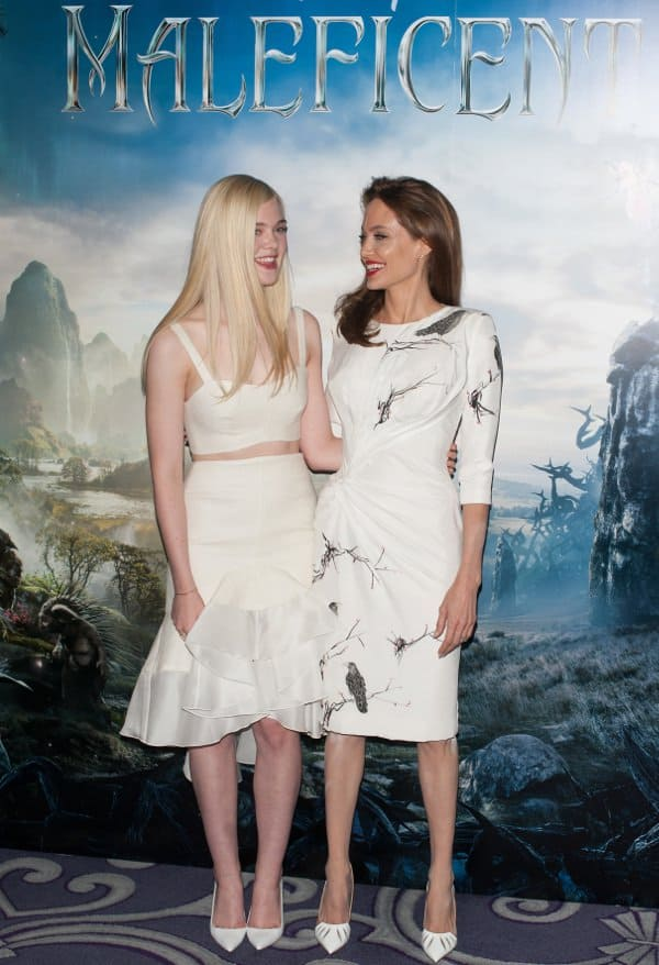 Angelina Jolie and Elle Fanning