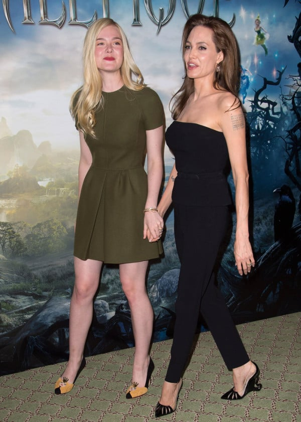Elle Fanning and Angelina Jolie in Paris