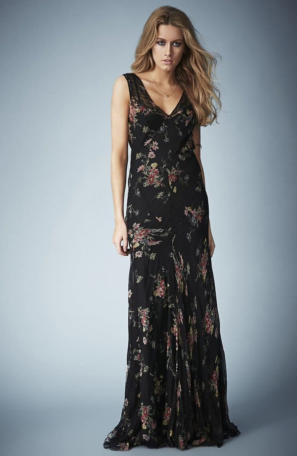 Kate Moss for Topshop Floral Chiffon Maxi Dress