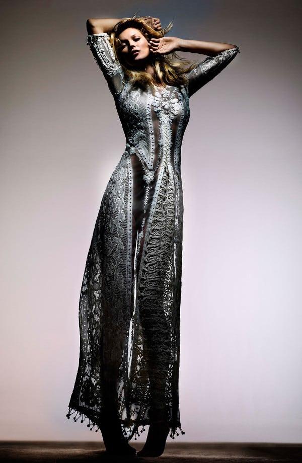 Kate Moss for Topshop Crochet Lace Maxi Dress