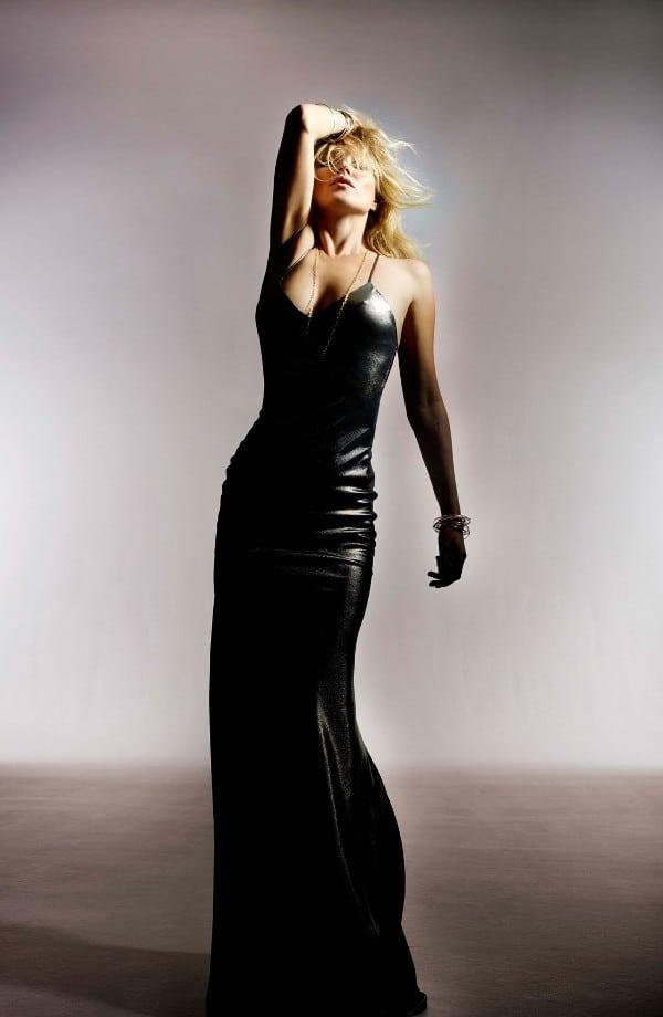 Kate Moss for Topshop Lamé Bias Cut Maxi Dress
