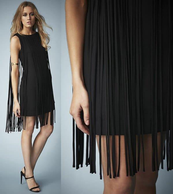 Kate Moss for Topshop Long Fringed Tassel Dress