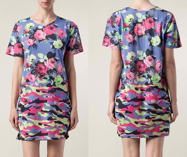 Carven Camo Tshirt Dress