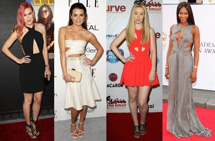 Celebrities wearing cutout dresses