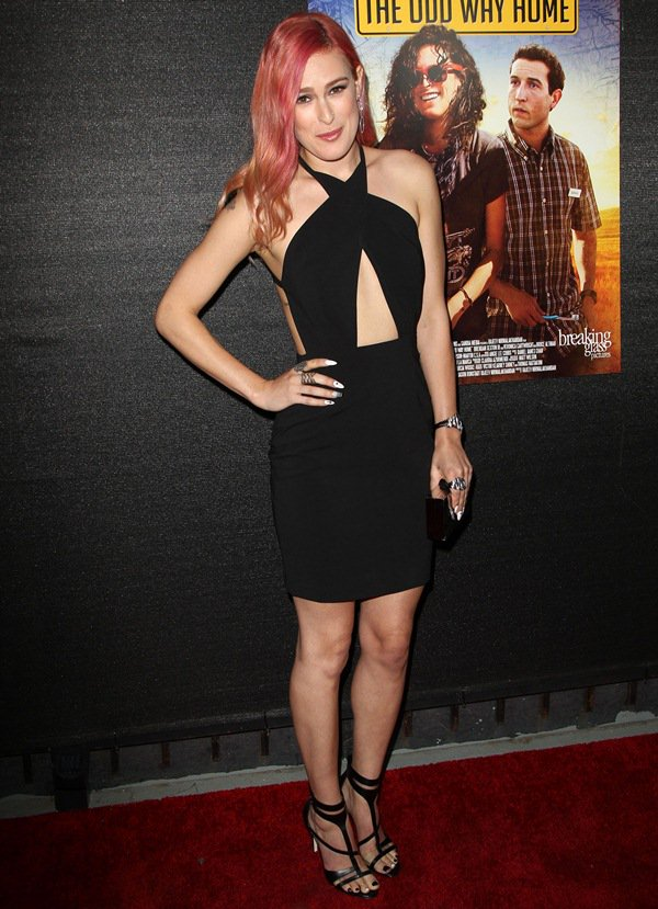 Rumer Willis flaunts her legs in a black AQ/AQ cutout dress at The Odd Way Home premiere