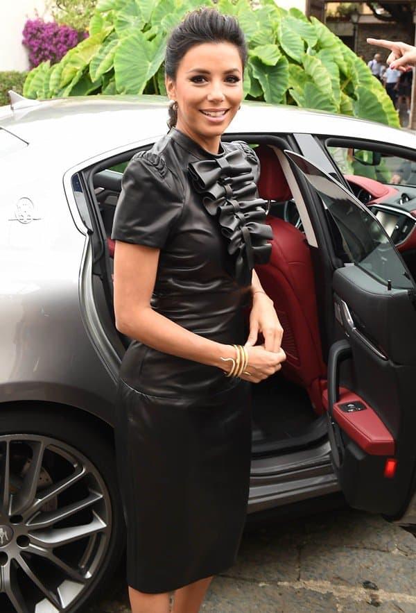 Eva Longoria at the San Domenico Palace Hotel after the Taormina Film Festival in Italy on June 17, 2014