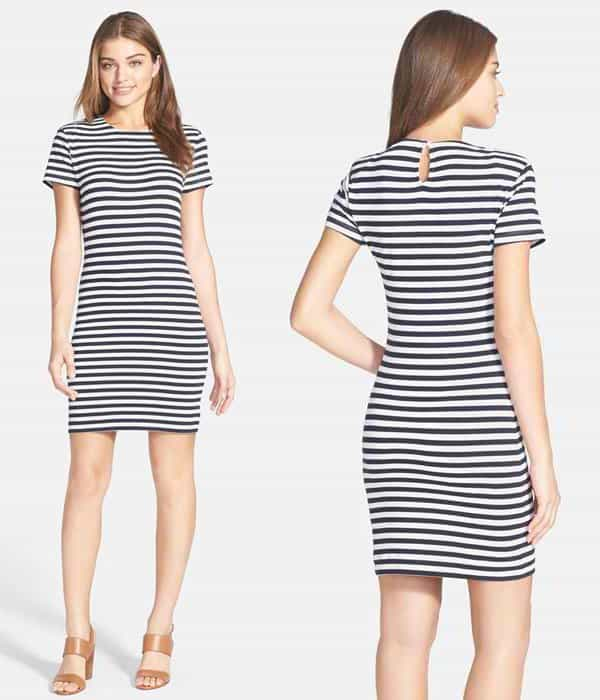 French Connection Sienna Stripe Cotton Dress