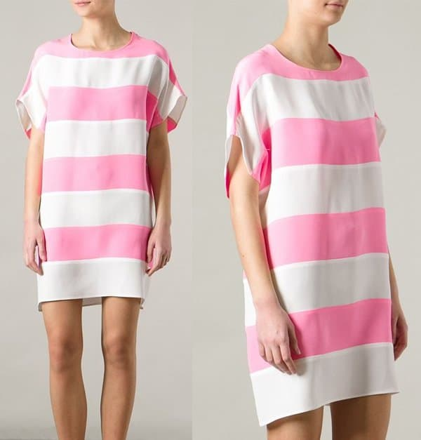 Gianluca Capannolo Striped Tshirt Dress