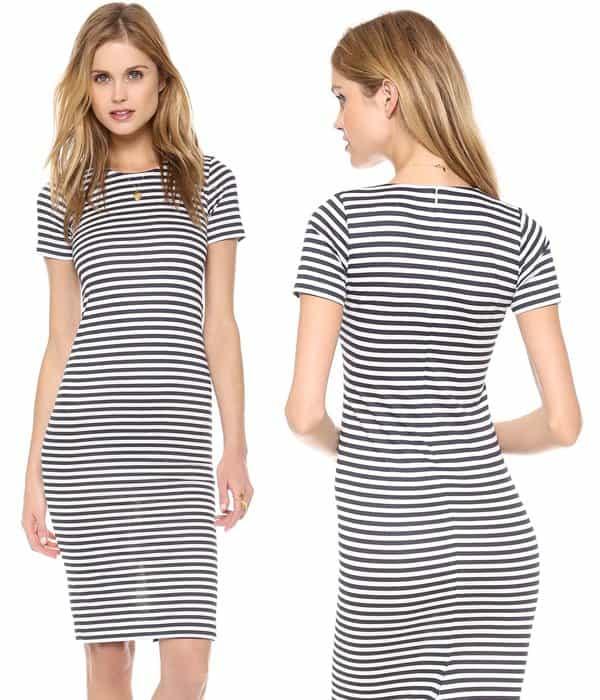Harvey Faircloth Sailor Stripe Pencil Dress
