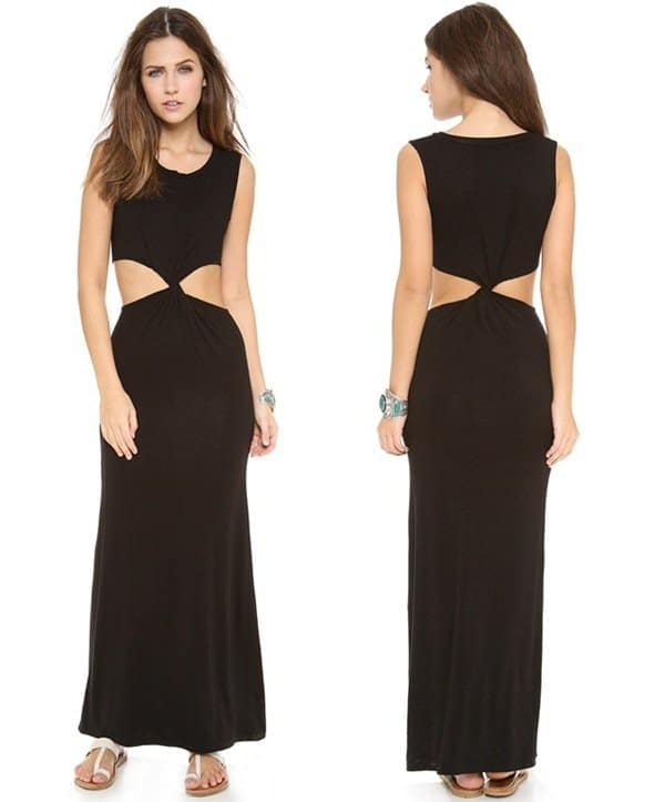 Indah Zombie Twist Cutout Maxi Dress