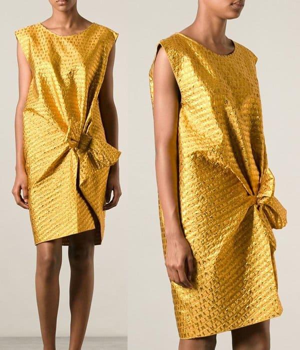 Lanvin Woven Draped Dress