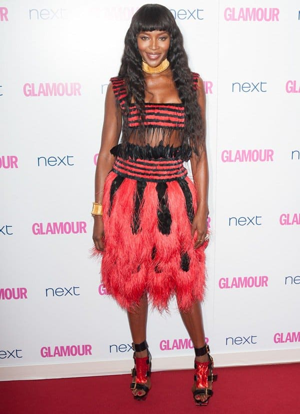 Naomi Campbell at the 2014 Glamour Women of the Year Awards