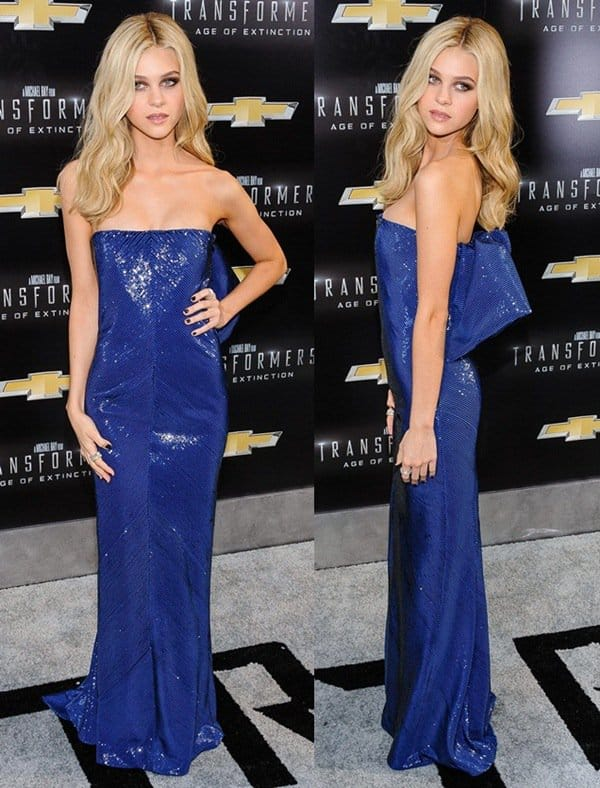 Nicola Peltz at the premiere of Transformers in NYC