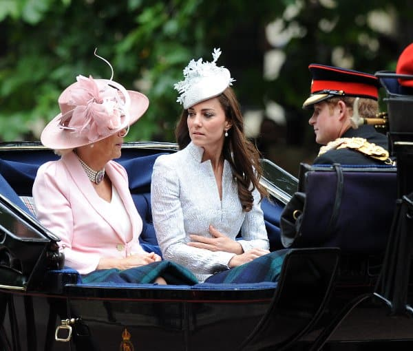 Catherine riding the same carriage as Camilla Parker Bowles, Duchess of Cornwall, and Prince Harry