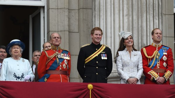 The royal family watching the Trooping the Colour Procession from the balcony