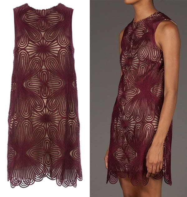 Christopher Kane Macrame Motif Shift Dress