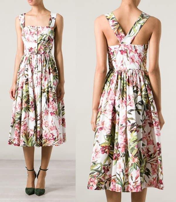 Dolce & Gabbana Flared Floral Print Dress