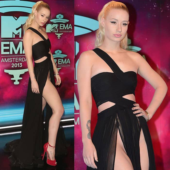 Iggy Azalea's pelvic bone cleavage at the 20th MTV Europe Music Awards
