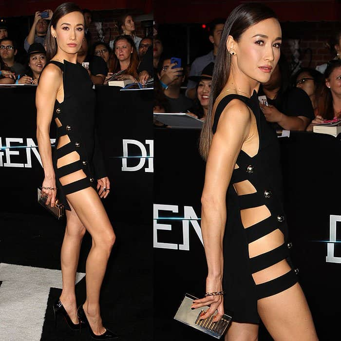 Maggie Q went commando at the premiere of Divergent