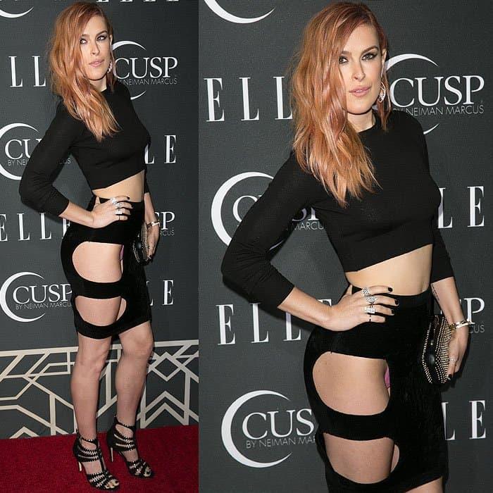 Rumer Willis pelvic cutout skirt