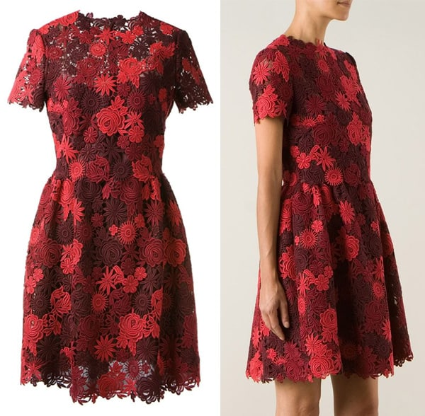 Valentino Floral Macramé Dress