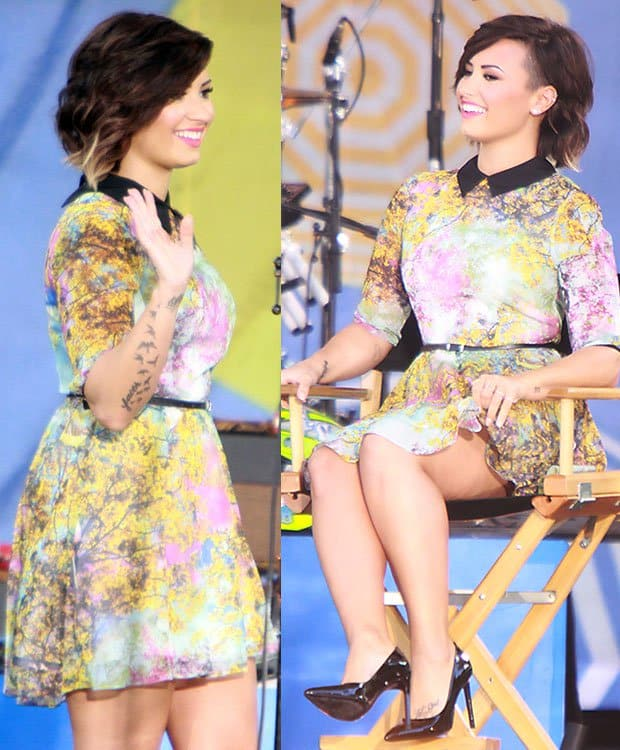 Demi Lovato's half-shaved ombre hairstyle