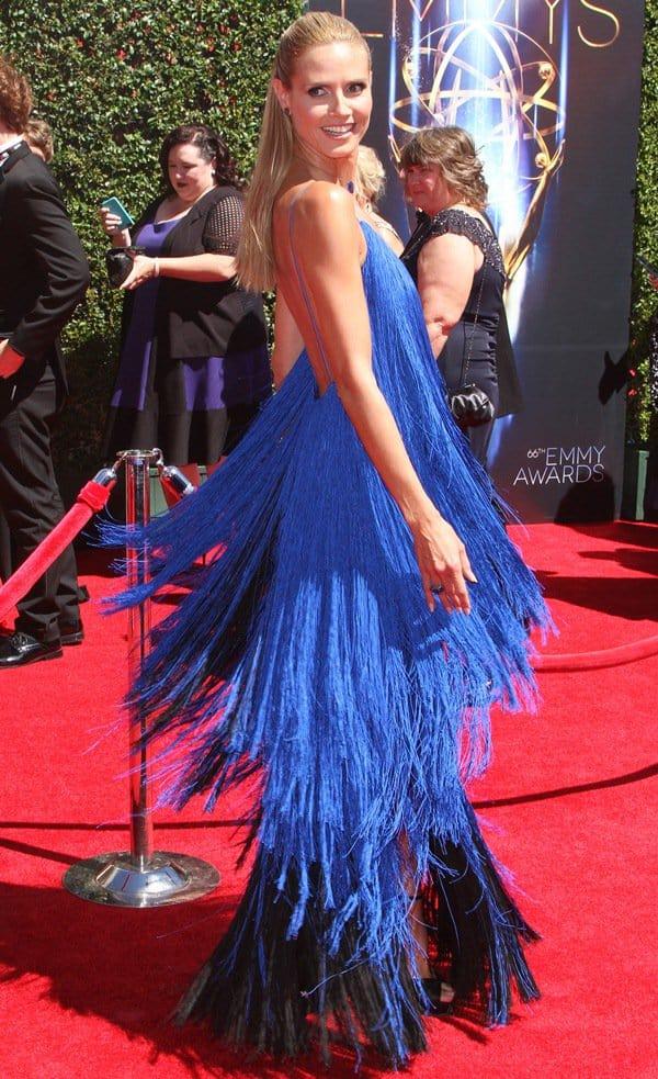 Heidi Klum Rocks A 200 Fringe Dress At The 2014 Creative