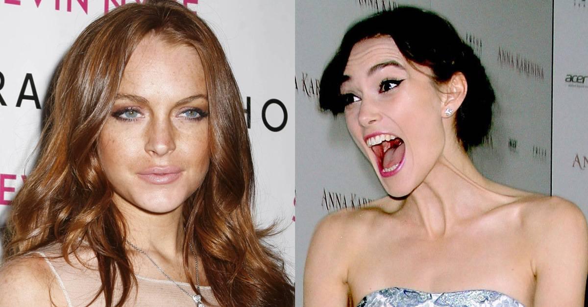 Keira Knightley und Lindsay Lohan Lesben