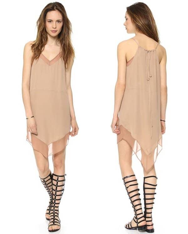 Mason by Michelle Mason Cami Dress with Chiffon Trim