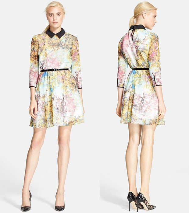 "Ted Baker ""Pretty Trees"" Print Dress"
