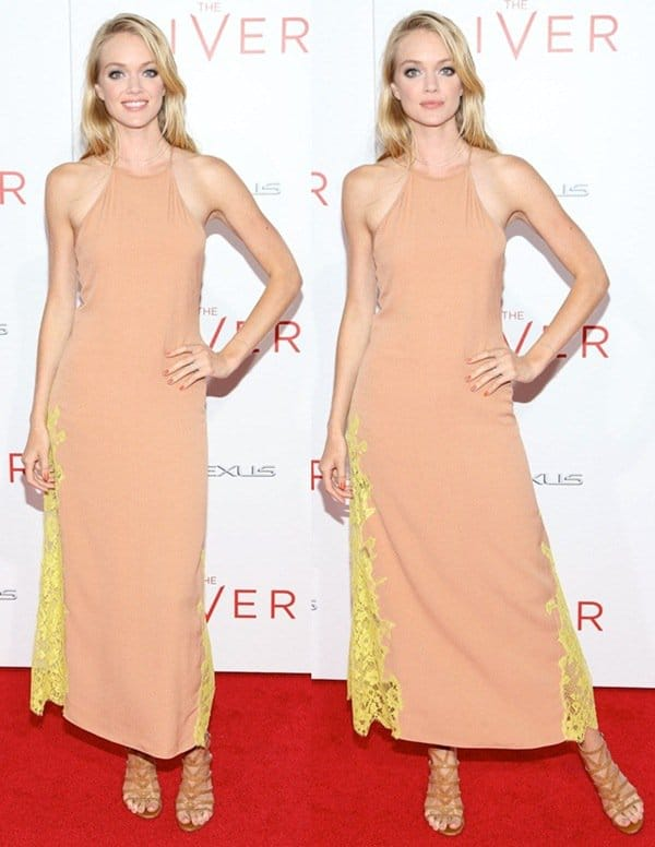 Lindsay Ellingson at the premiere of 'The Giver' held at the Ziegfeld Theatre in New York City on August 11, 2014