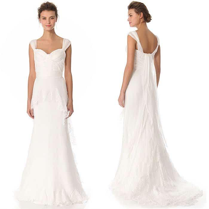 Alberta Ferretti Cap Sleeve Gown