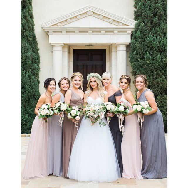 "Ashley Tisdale's bridal entourage photo captioned, ""Thanks to @nikkilee901 @msmorganashley @tauni901 @karanmitchellmua @dickycollins for making us all look beautiful"" - posted on September 9, 2014 Congratulations to Mr. and Mrs. French!"