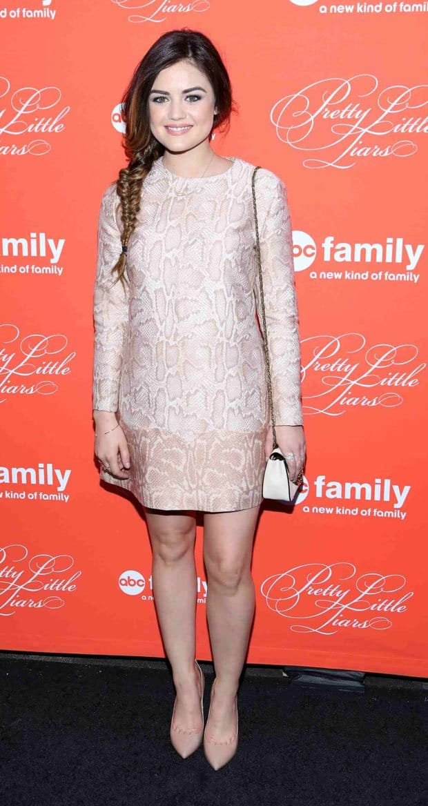 Lucy Hale at the Pretty Little Liars season finale screening at Ziegfeld Theatre in New York City on March 18, 2014