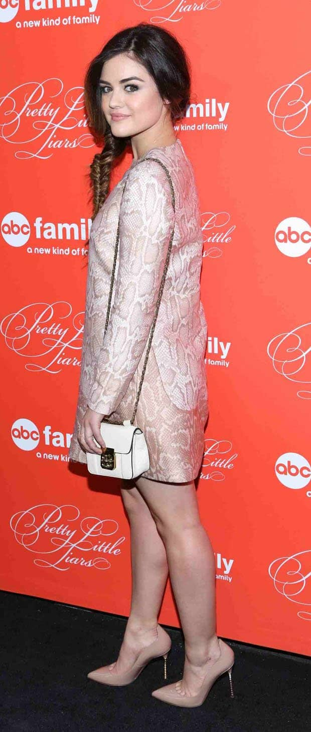 Lucy Hale herself was adorable in her blush-toned Stella McCartney dress