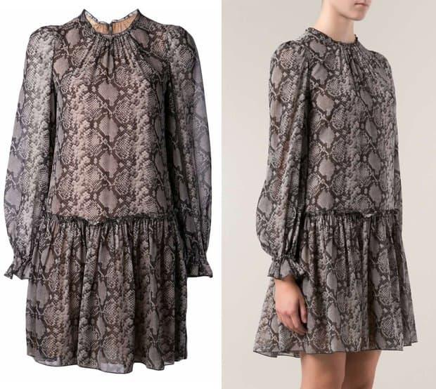 Michael Kors Drop Waist Printed Dress