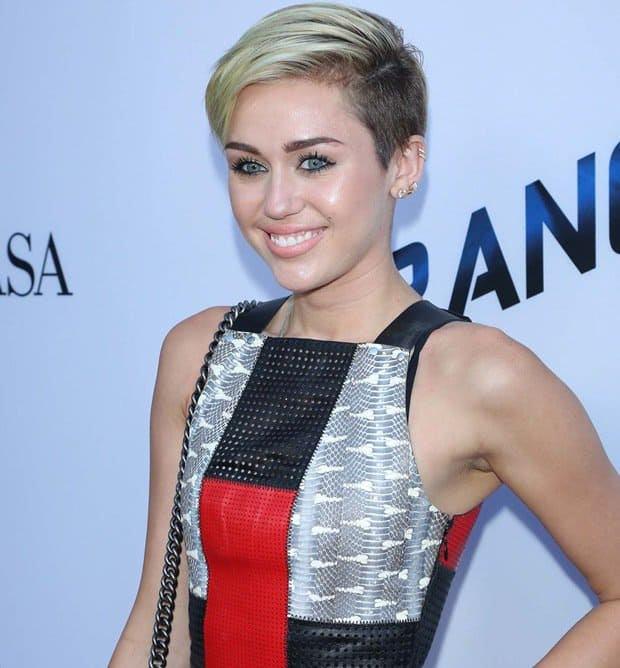 Miley Cyrus managed to retain a semblance of sweetness in her mixed-media Proenza Schouler dress