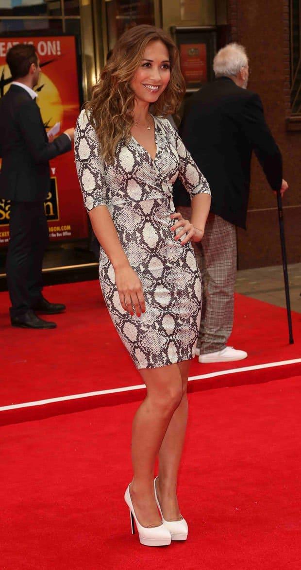 Myleene Klass just loves wading in the snakeskin dress trend