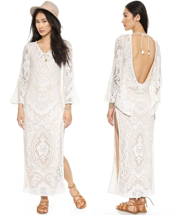 SPELL White Dove Vintage Lace Maxi Dress3