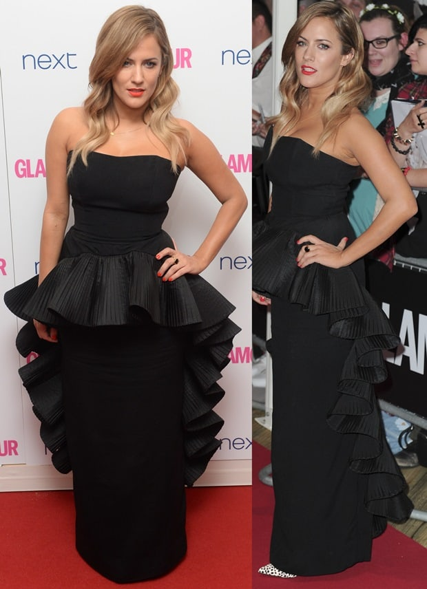 Caroline Flack at the Glamour Women of the Year 2014 Awards held at Berkeley Square Gardens in London on June 3, 2014