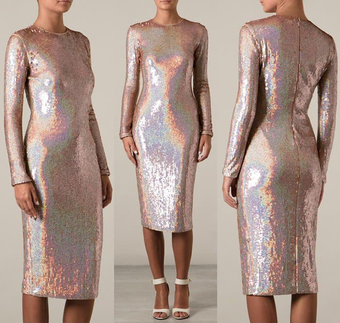 Who Looks Best In Givenchy S Embellished Dress Lindsay Or