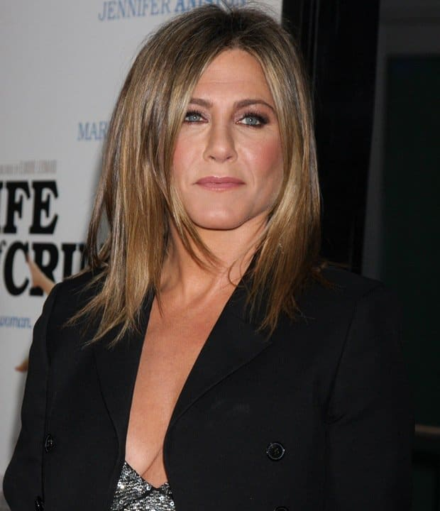 Actress Jennifer Aniston arrives at the Los Angeles Premiere 'Life Of Crime' at ArcLight Cinemas on August 27, 2014 in Hollywood, California