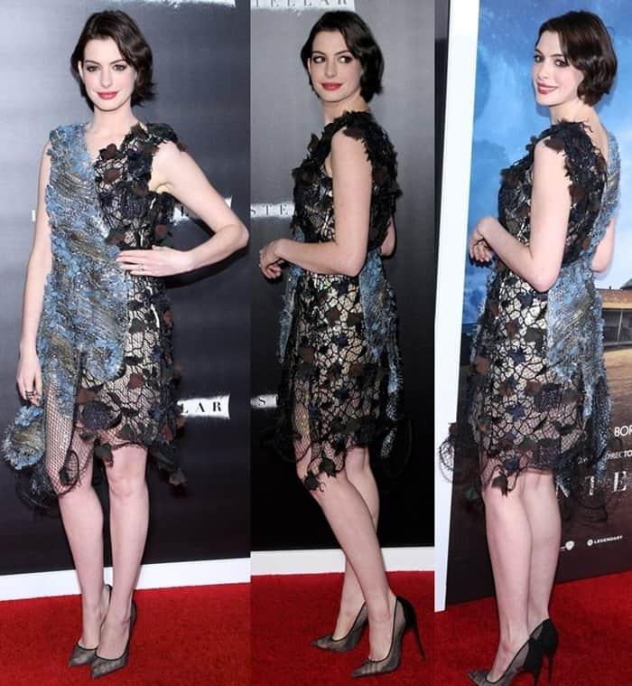Anne Hathaway Ziegfeld Theatre: Anne Hathaway In Unflattering Rodarte Dress At