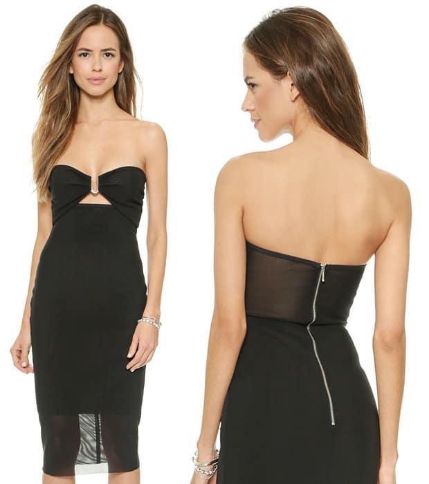Bec & Bridge Paradise City Strapless Dress